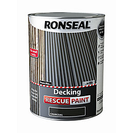Ronseal Deck rescue Charcoal Matt Opaque Decking paint