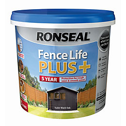 Ronseal Fence life Tudor black oak Matt Opaque