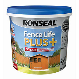 Ronseal Fence life Harvest gold Matt Opaque Shed