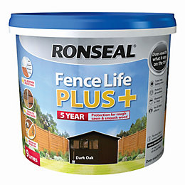 Ronseal Fence life Dark oak Matt Opaque Shed