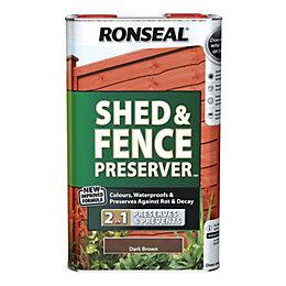 Ronseal Dark Brown Shed & Fence Preserver 5L