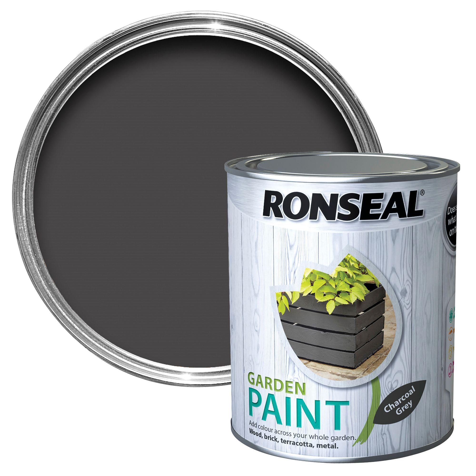 Charcoal Gray Paint >> Ronseal Garden Charcoal Grey Matt Paint 0 75l Departments Diy At B Q