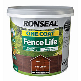Ronseal Fence life Red cedar Matt Opaque Shed