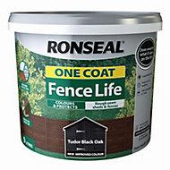 Ronseal Fence life Tudor black oak Matt Opaque Shed & fence treatment 9L