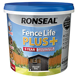 Ronseal Fence Life Charcoal Grey Matt Opaque Shed