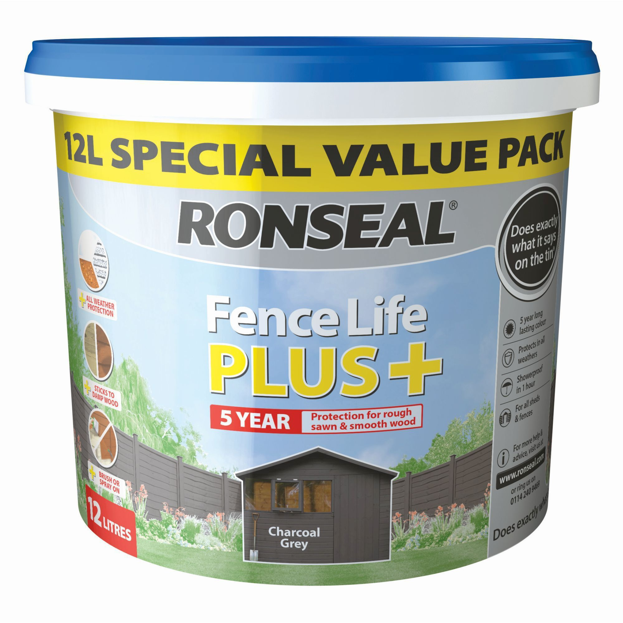 Ronseal Grey Fence Paint
