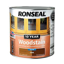Ronseal Oak Satin Woodstain 0.75L