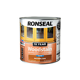Ronseal Natural oak Satin Woodstain 0.75L