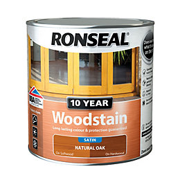 Ronseal Natural oak Satin Woodstain 2.5L