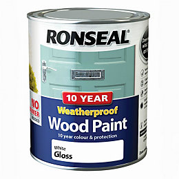 Ronseal External White Gloss Wood paint 0.75L