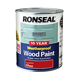 Ronseal External Royal Red Gloss Wood Paint 0.75L