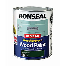 Ronseal Racing green Gloss Wood paint 0.75L