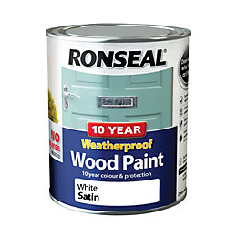 Ronseal External White Satin Wood Paint 0.75L