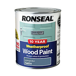 Ronseal External Midnight Blue Satin Wood Paint 0.75L