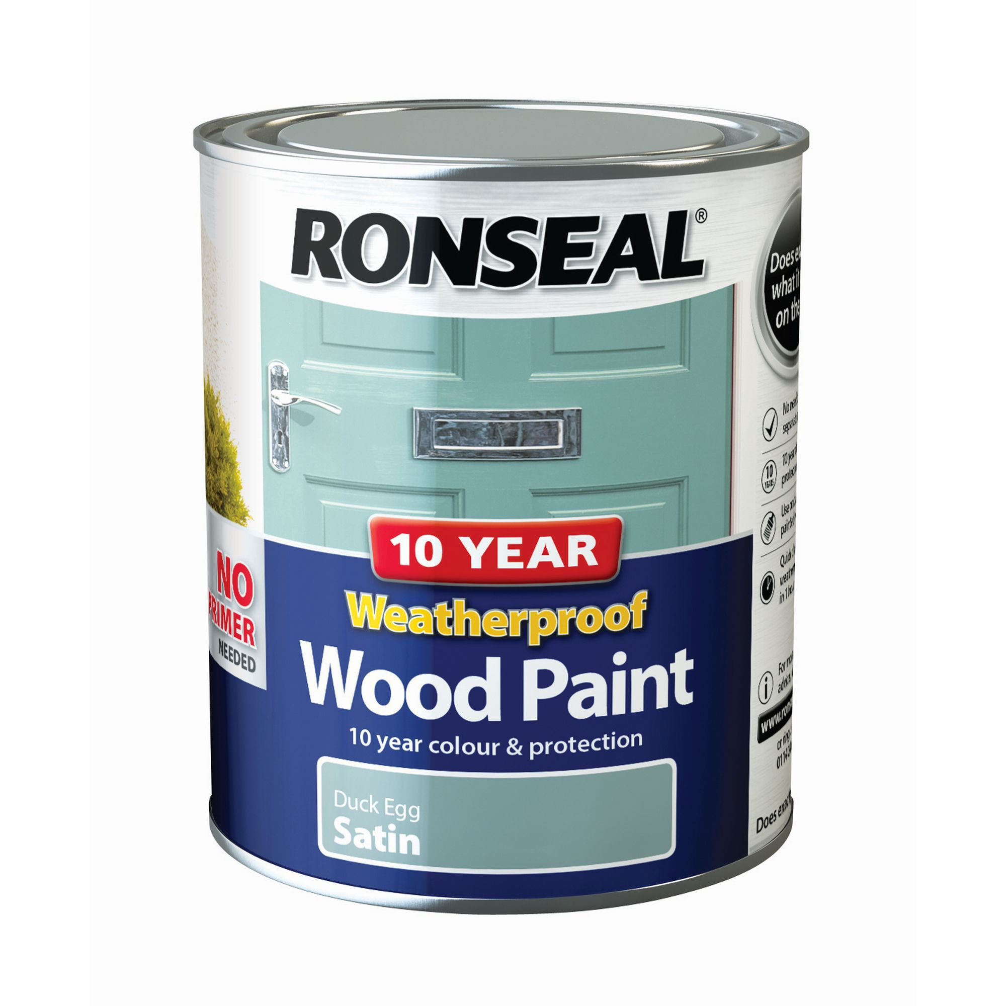 From Midnight To Duck Egg See: Ronseal Duck Egg Satin Wood Paint 0.75L