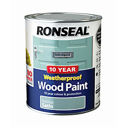 Ronseal Duck egg Satin Wood paint 0.75L