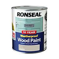 Ronseal Mocha Satin Wood paint 0.75L