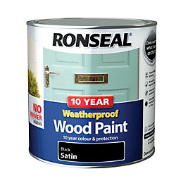 Ronseal External Black Satin Wood paint 2.5L