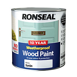 Ronseal External White Satin Wood paint 2.5L
