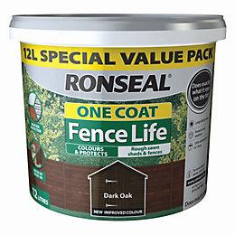 Ronseal Fence life Dark oak Matt Opaque Shed