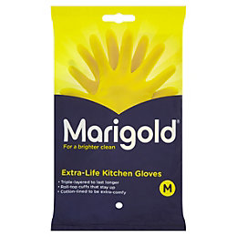 Marigold Medium Kitchen & Household Rubber Gloves Of