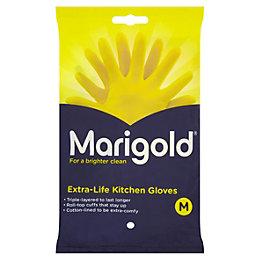 Marigold Medium Kitchen & Household Rubber Gloves Of