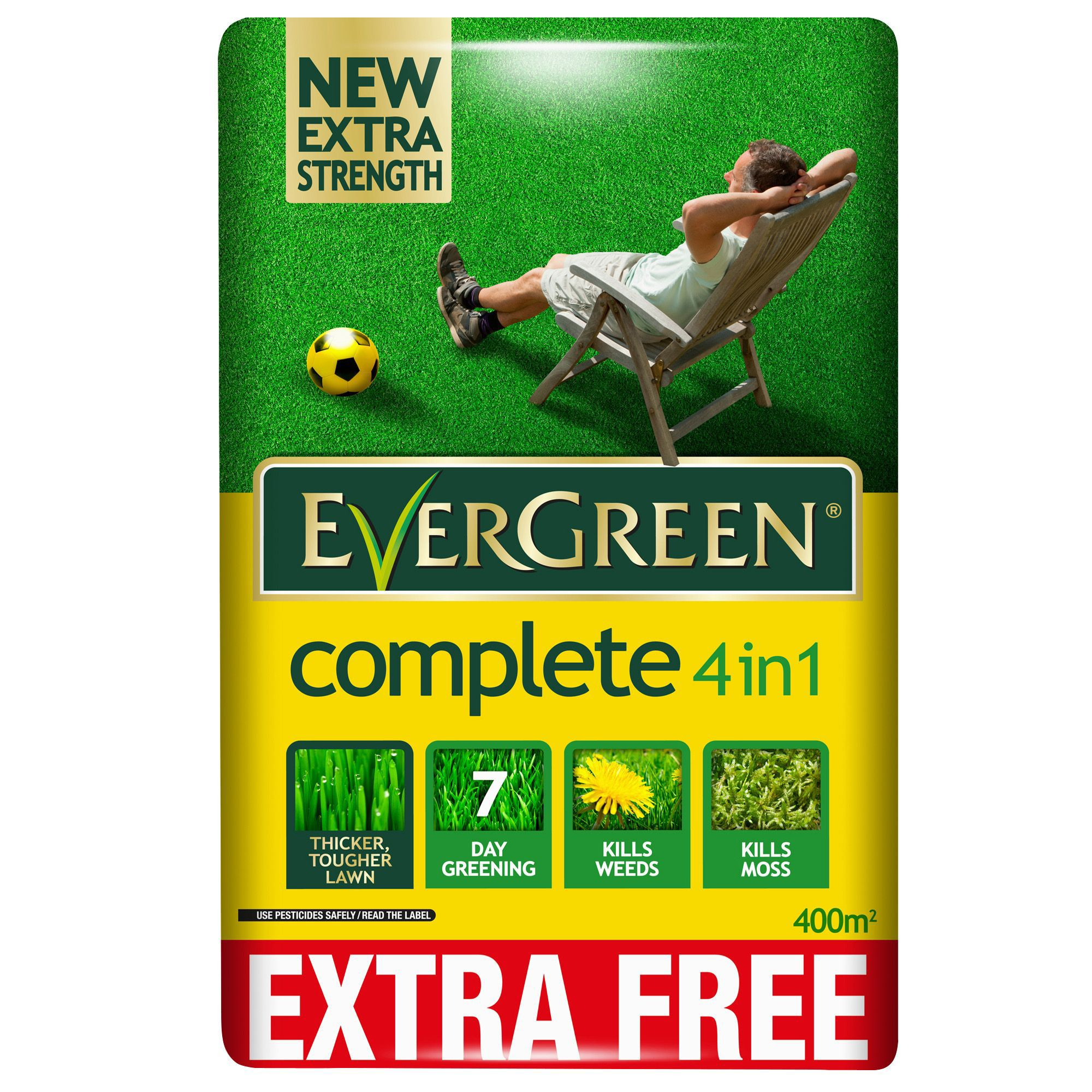 Evergreen 174 Complete 4 In 1 Lawn Feed Weed Amp Moss Killer