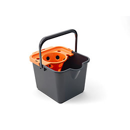 Grey & Orange Mop Bucket & Wringer