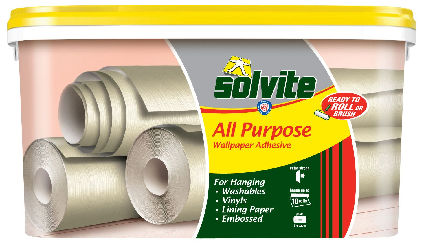 Solvite All Purpose Ready To Roll Wallpaper Adhesive 9kg Departments Diy At B Q