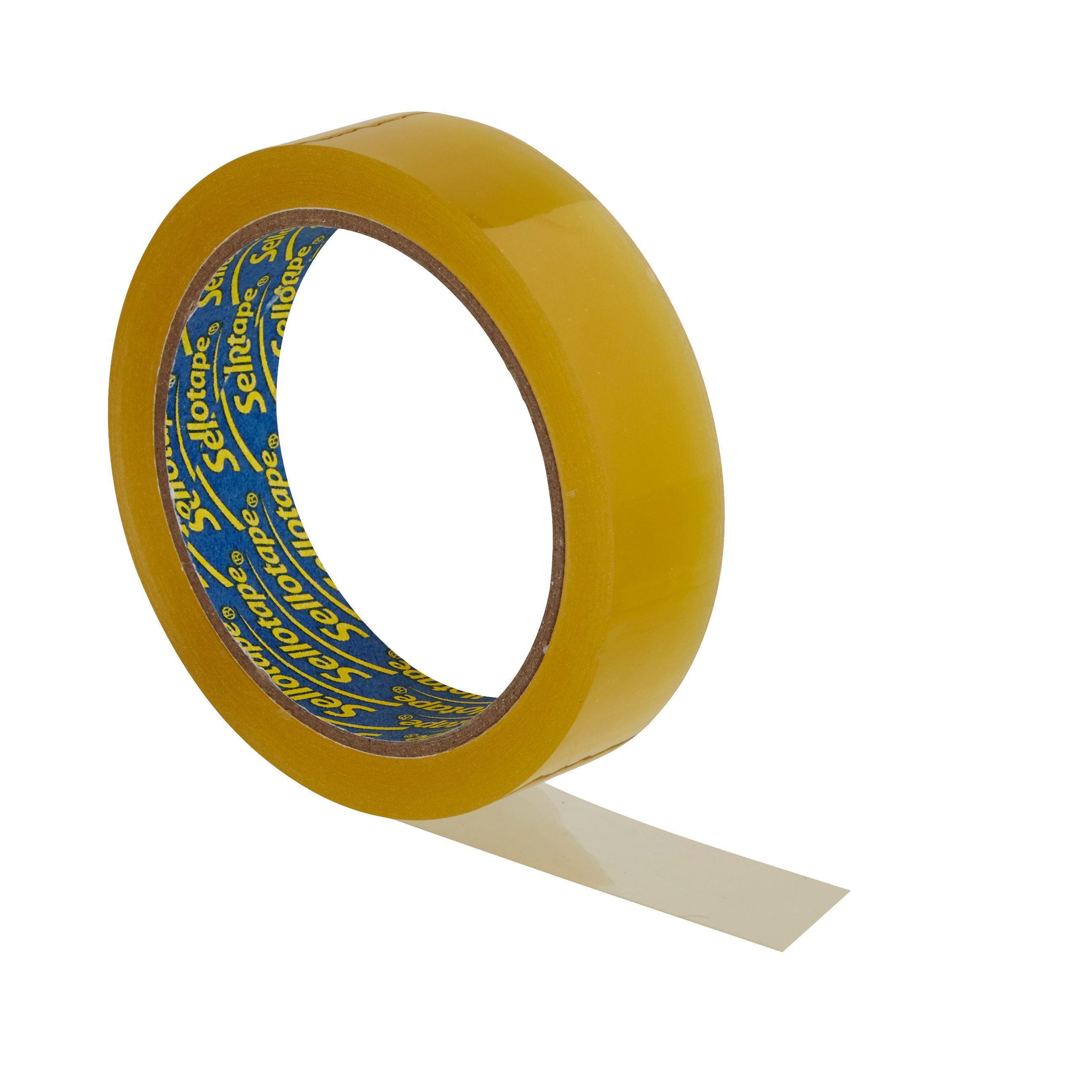 Sellotape Yellow General Purpose Tape L 50m W 24mm