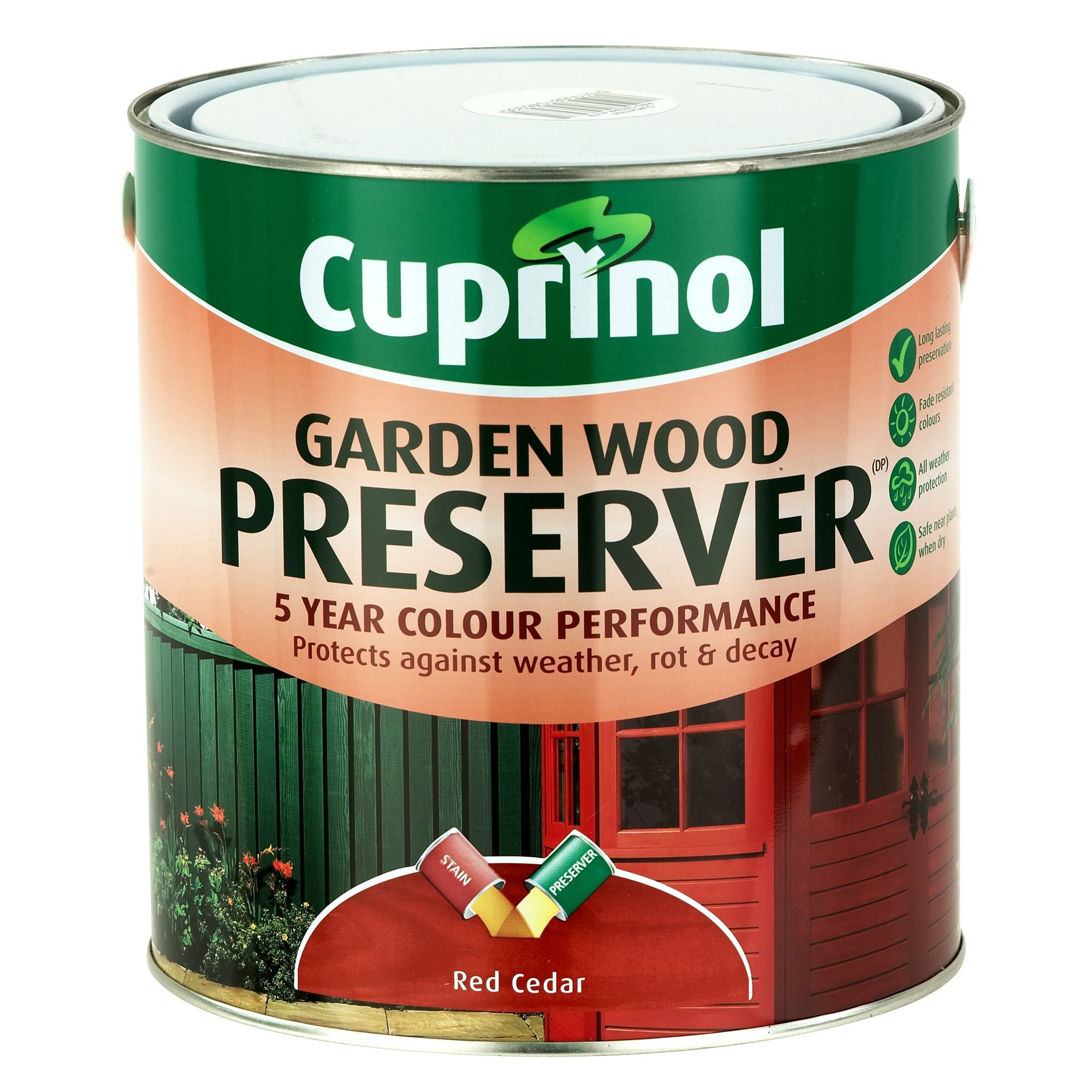 Cuprinol Red Cedar Matt Wood Preserver 4000ml Departments Tradepoint