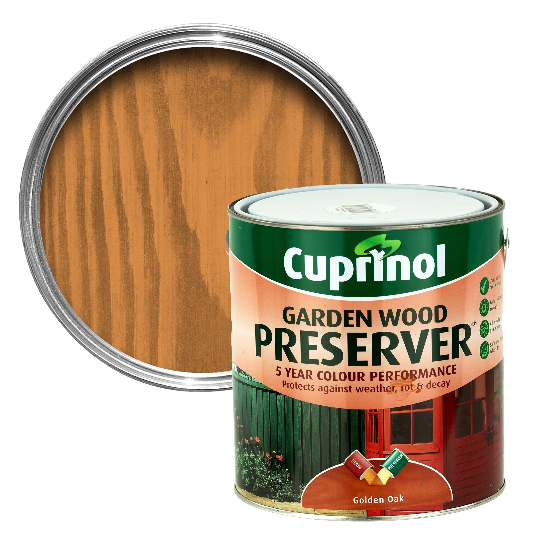 Cuprinol Golden Oak Matt Garden Wood Preserver 4l Departments Diy At B Q
