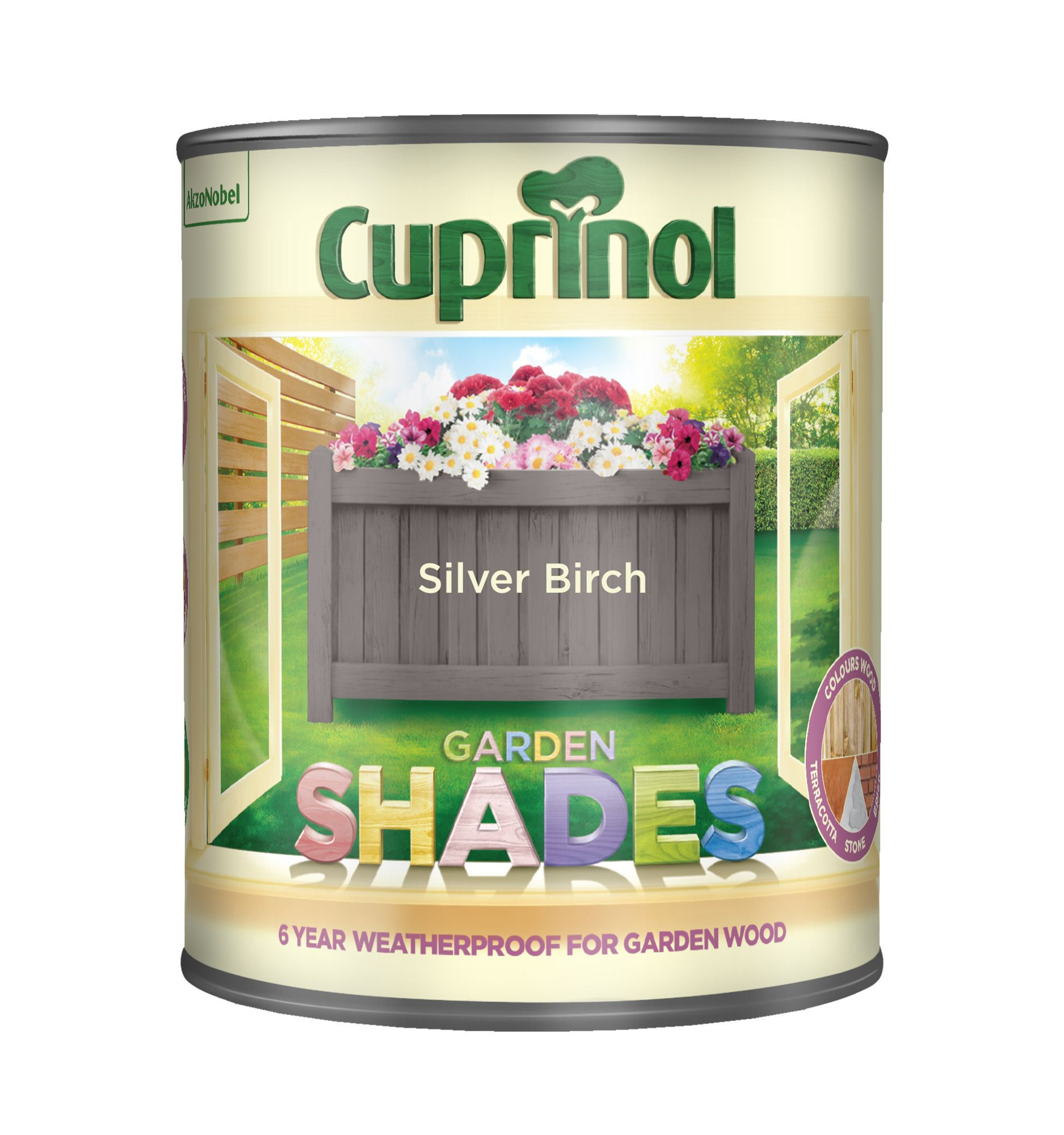 Cuprinol Garden Shades Silver Birch Matt Wood Paint 1l
