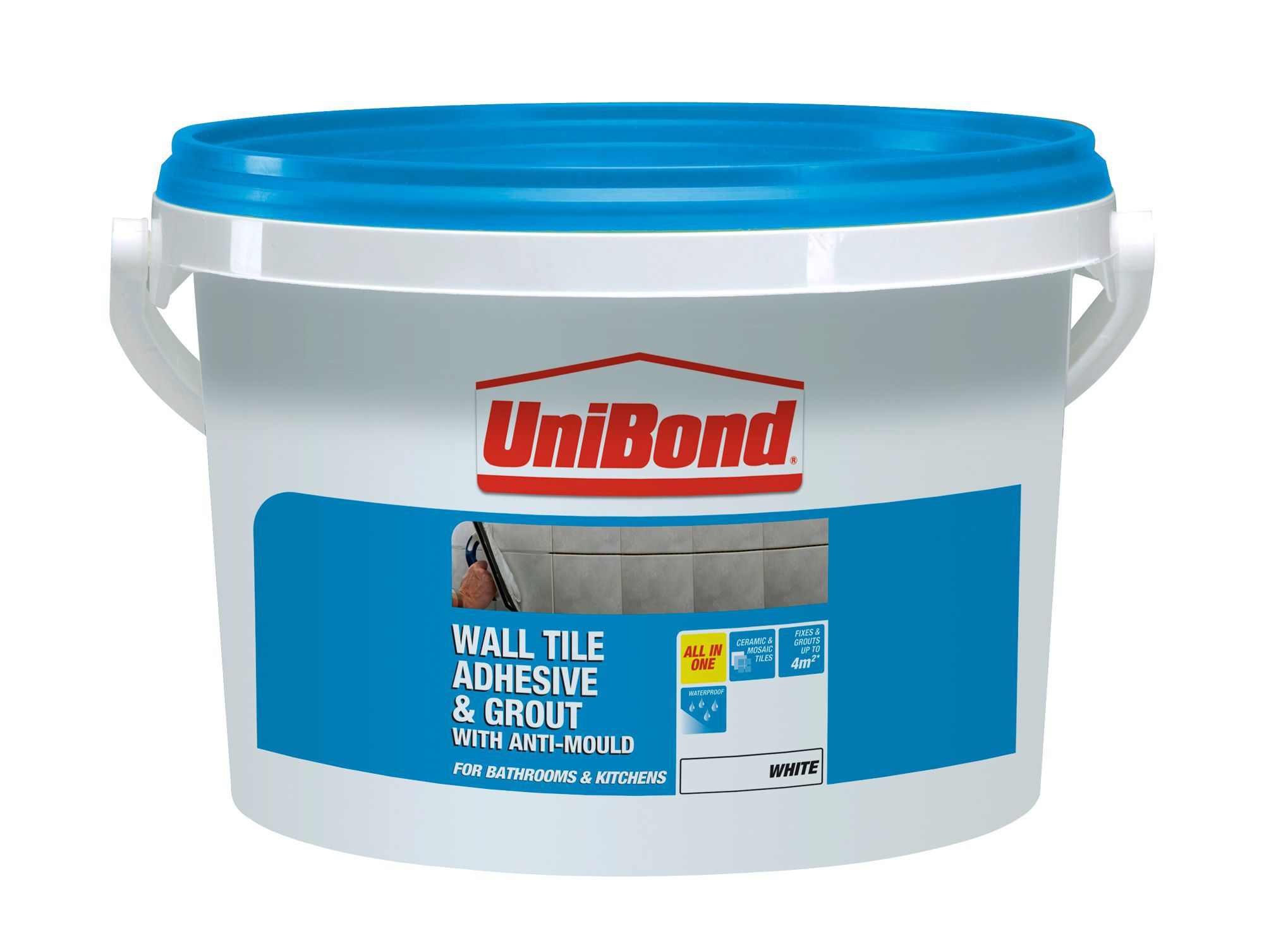 Unibond Ready to Use Wall Tile Adhesive & Grout, White 6.4kg ...