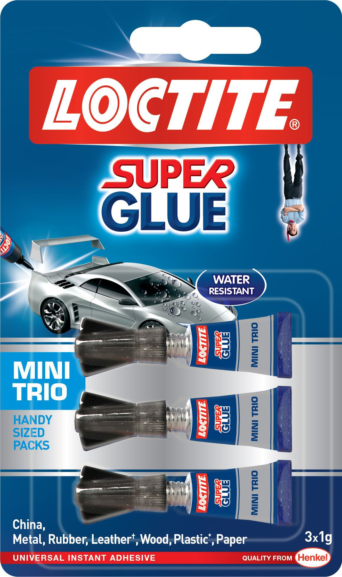 Loctite Mini Trio Superglue 1g Pack Of 3 Departments