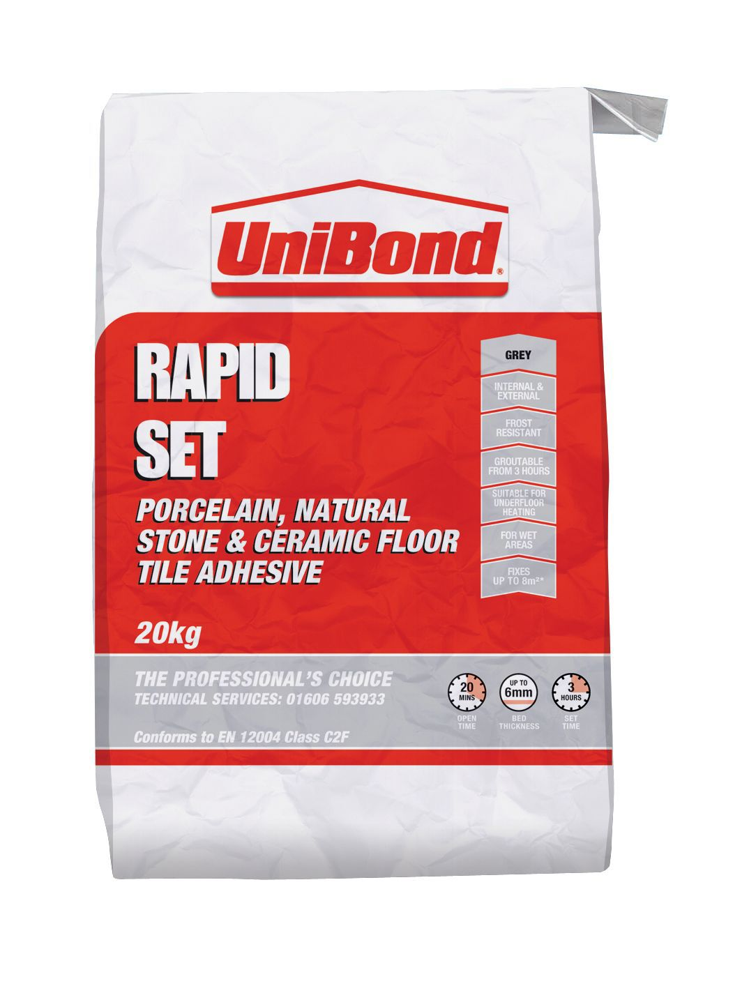 Unibond Rapid Set Powder Wall Amp Floor Tile Adhesive Grey