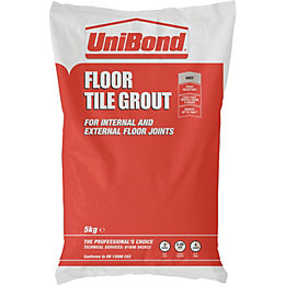 Unibond Rapid Set Grey Powder Grout (W)5kg