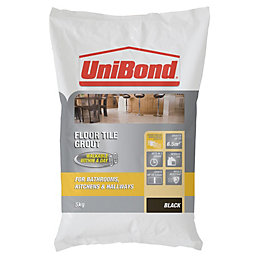 UniBond Black Powder grout (W)5kg