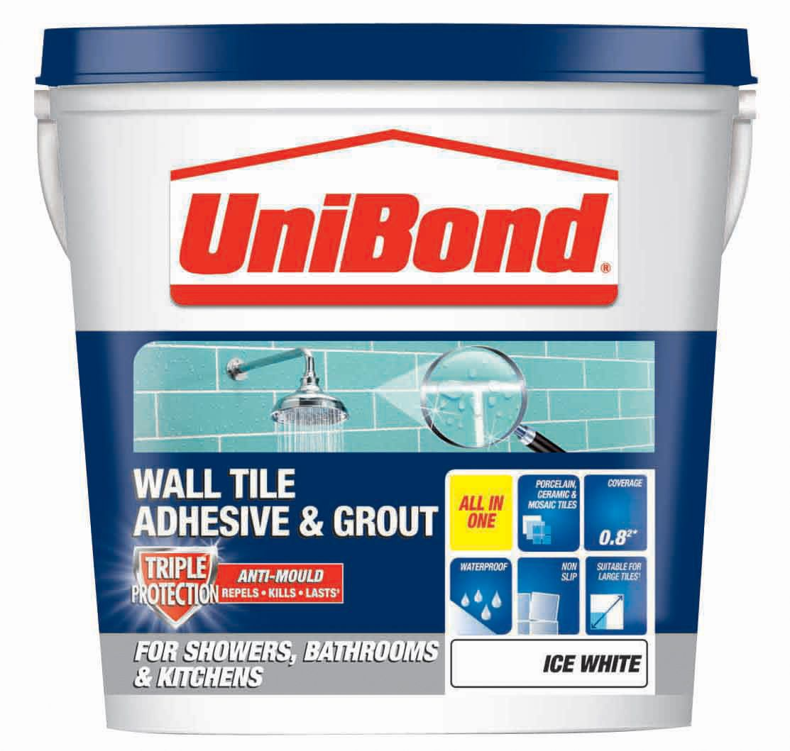 Unibond ready to use wall tile adhesive grout ice white 128kg unibond ready to use wall tile adhesive grout ice white 128kg departments diy at bq dailygadgetfo Images
