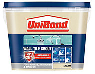 UniBond Cream Ready mixed grout (W)1.38kg