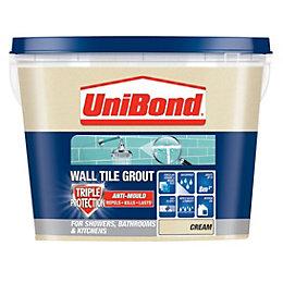 UniBond Cream Ready mixed grout (W)1.38kg