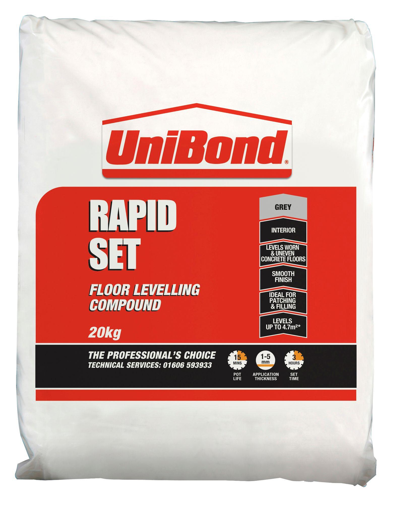 Unibond Rapid Set Floor Levelling Compound 20kg | Departments | DIY At Bu0026Q