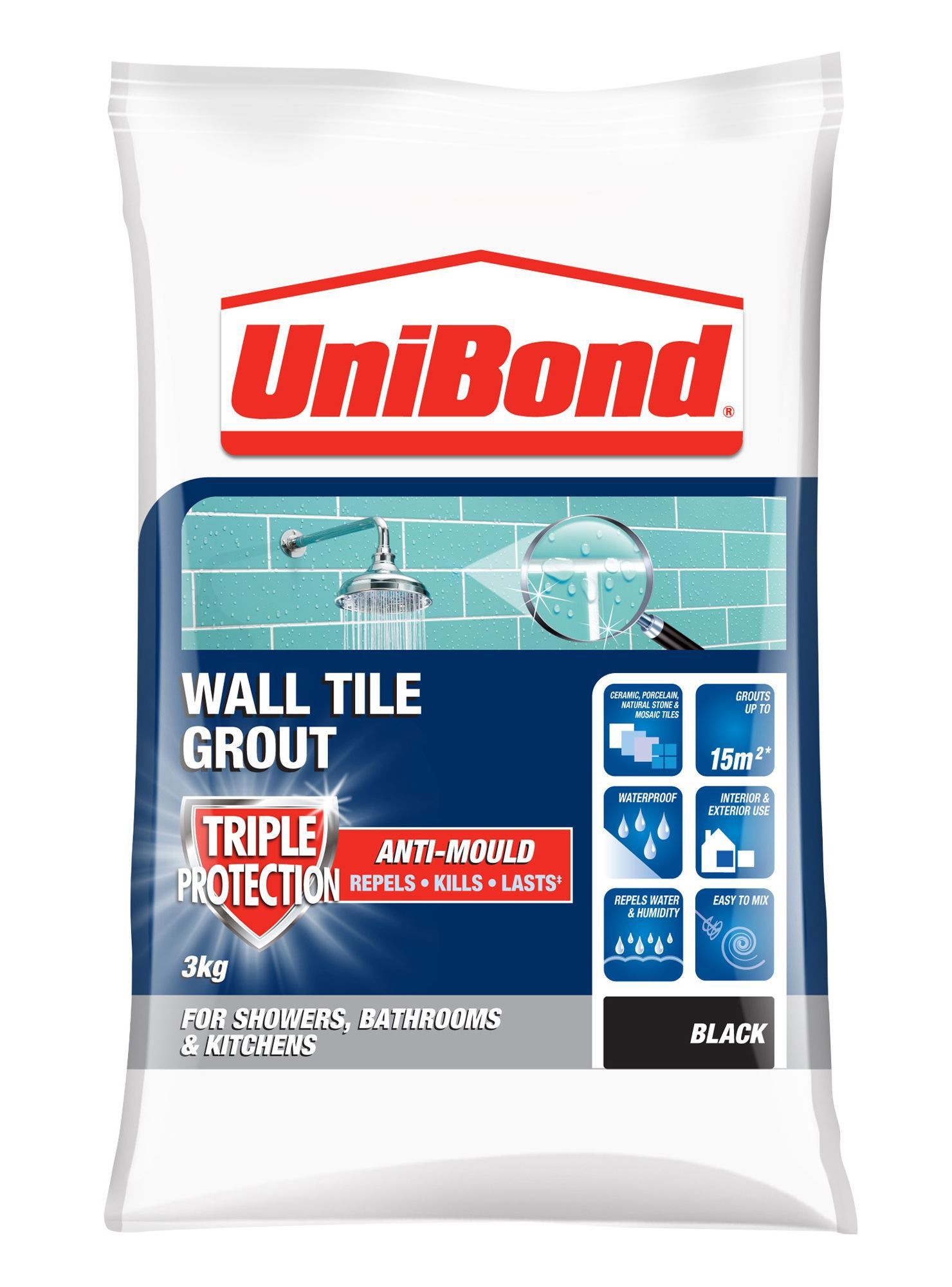 Unibond black powder grout w3kg departments diy at bq dailygadgetfo Images