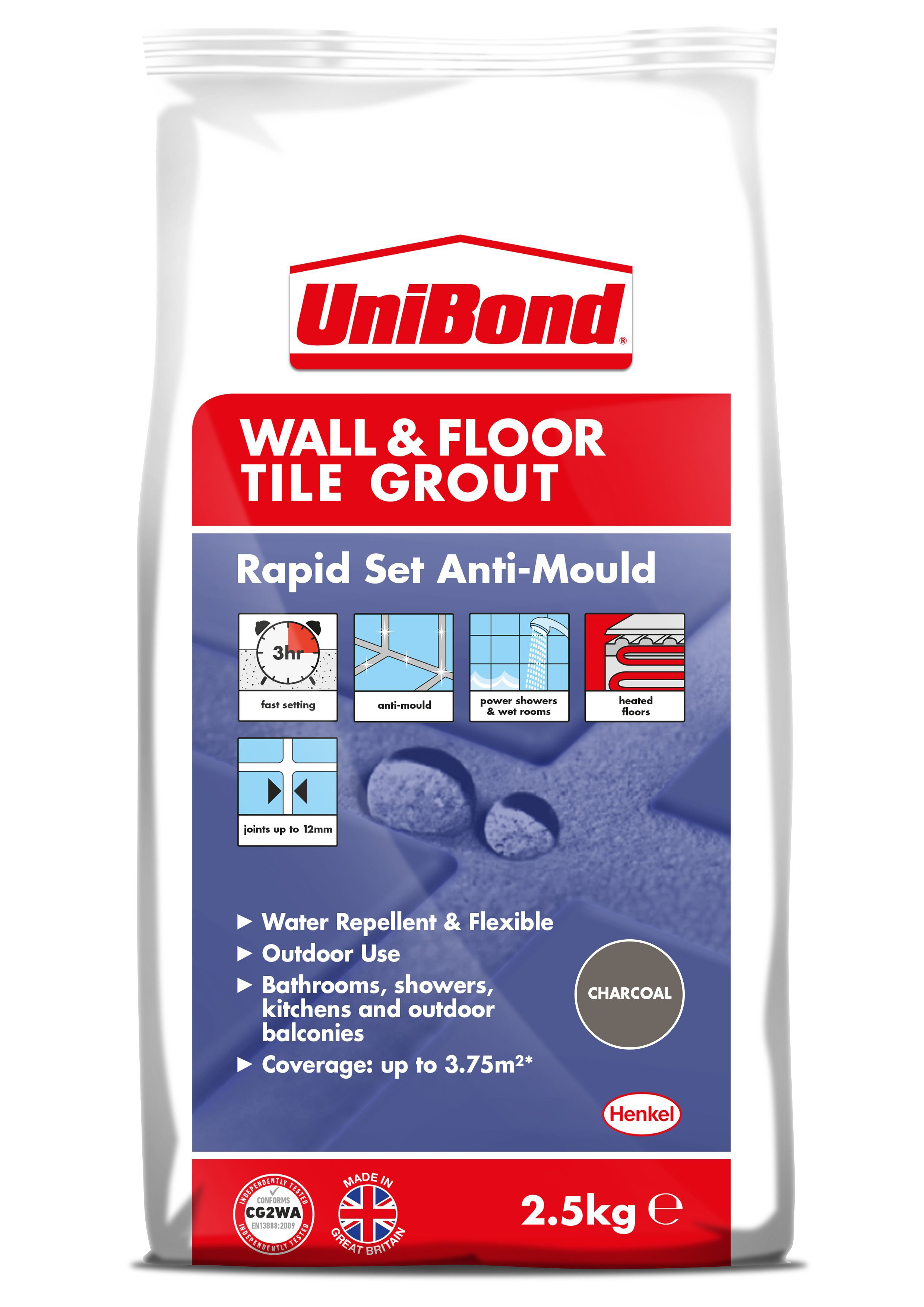 Unibond Rapid Set Flexible Black Wall Amp Floor Tile Grout
