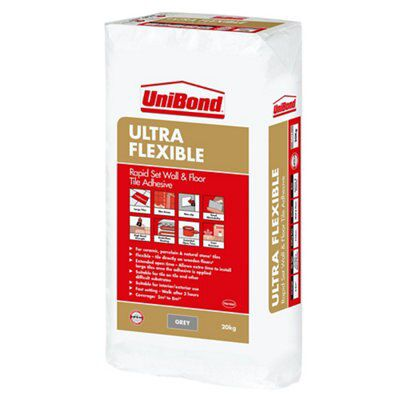Unibond ultra flex powder wall floor tile adhesive grey 20kg unibond ultra flex powder wall floor tile adhesive grey 20kg departments diy at bq dailygadgetfo Image collections