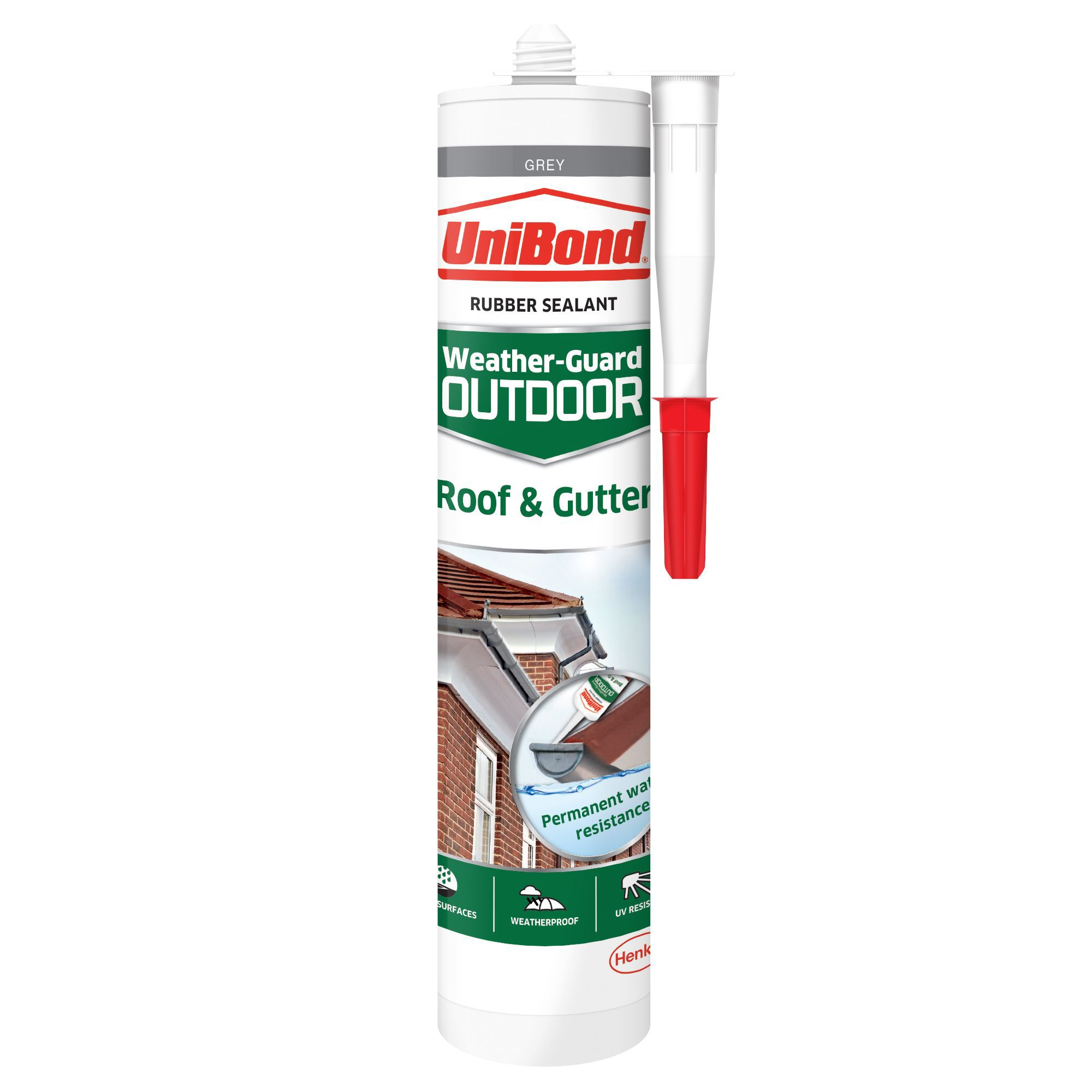 Unibond Weather Guard Outdoor Grey Roof Amp Gutter Sealant