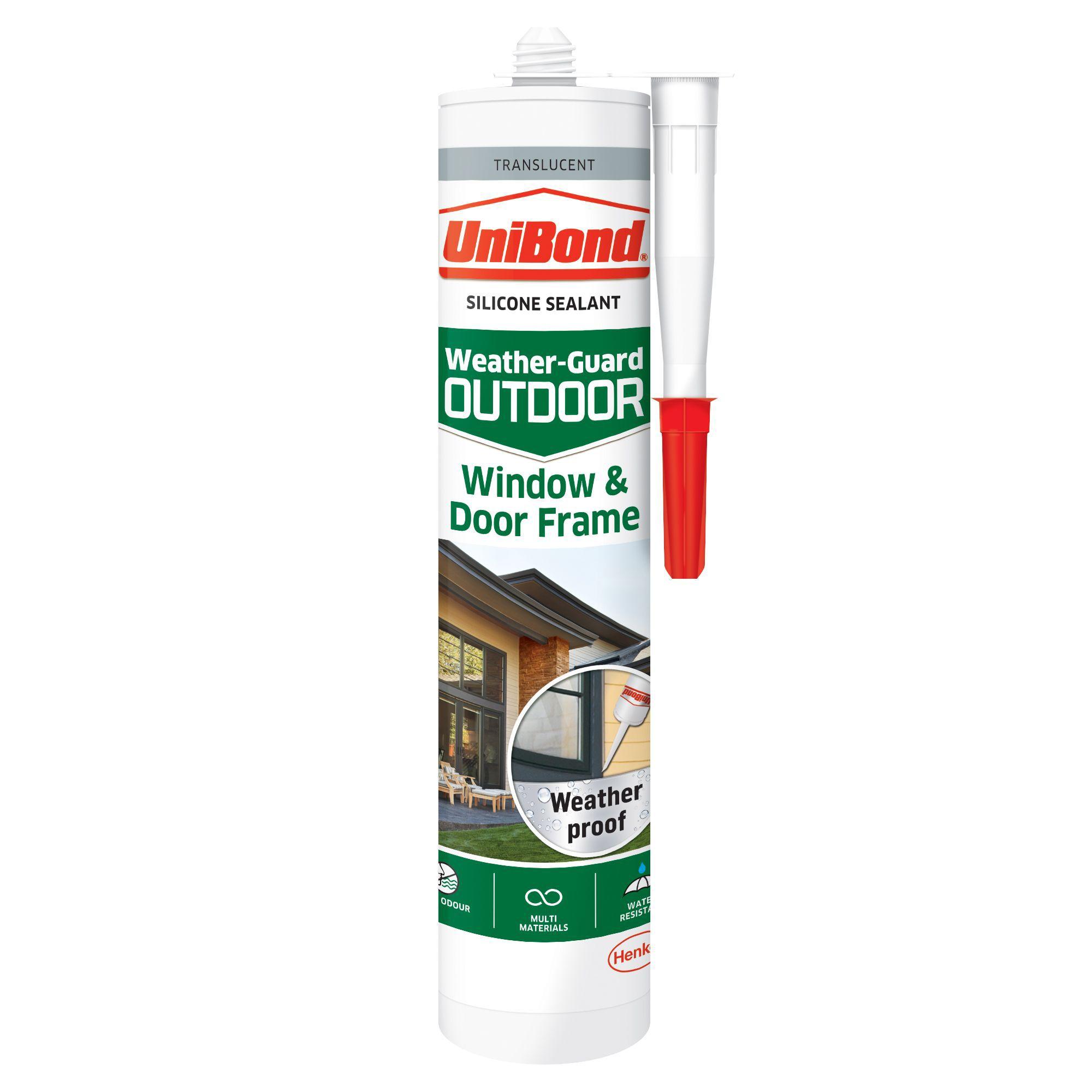 Unibond Weather Guard Outdoor Translucent Frame Sealant