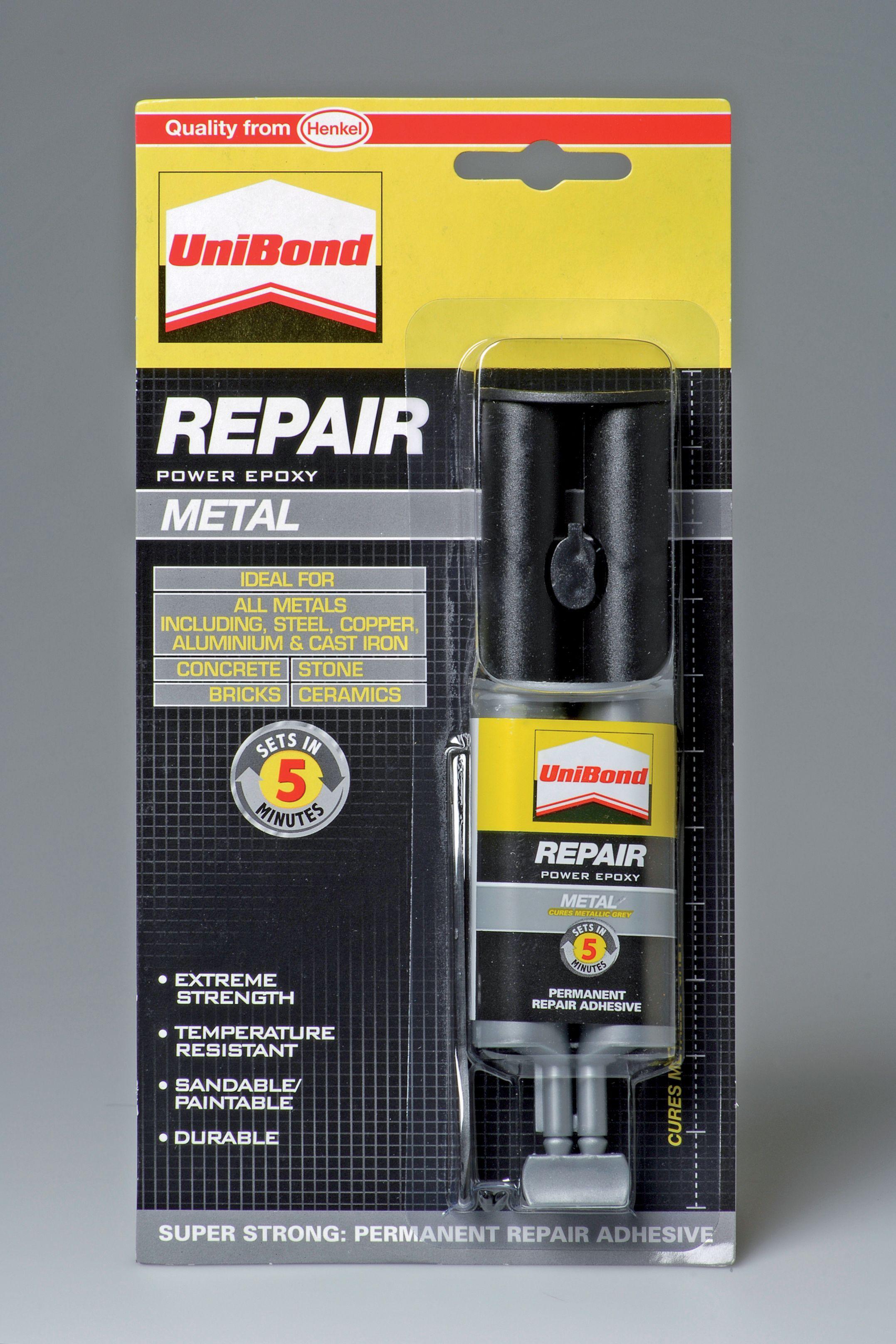 UniBond Repair Metal Epoxy glue 25ml | Departments | DIY at B&Q