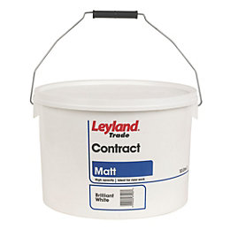 Leyland Trade Contract Brilliant White Matt Emulsion Paint
