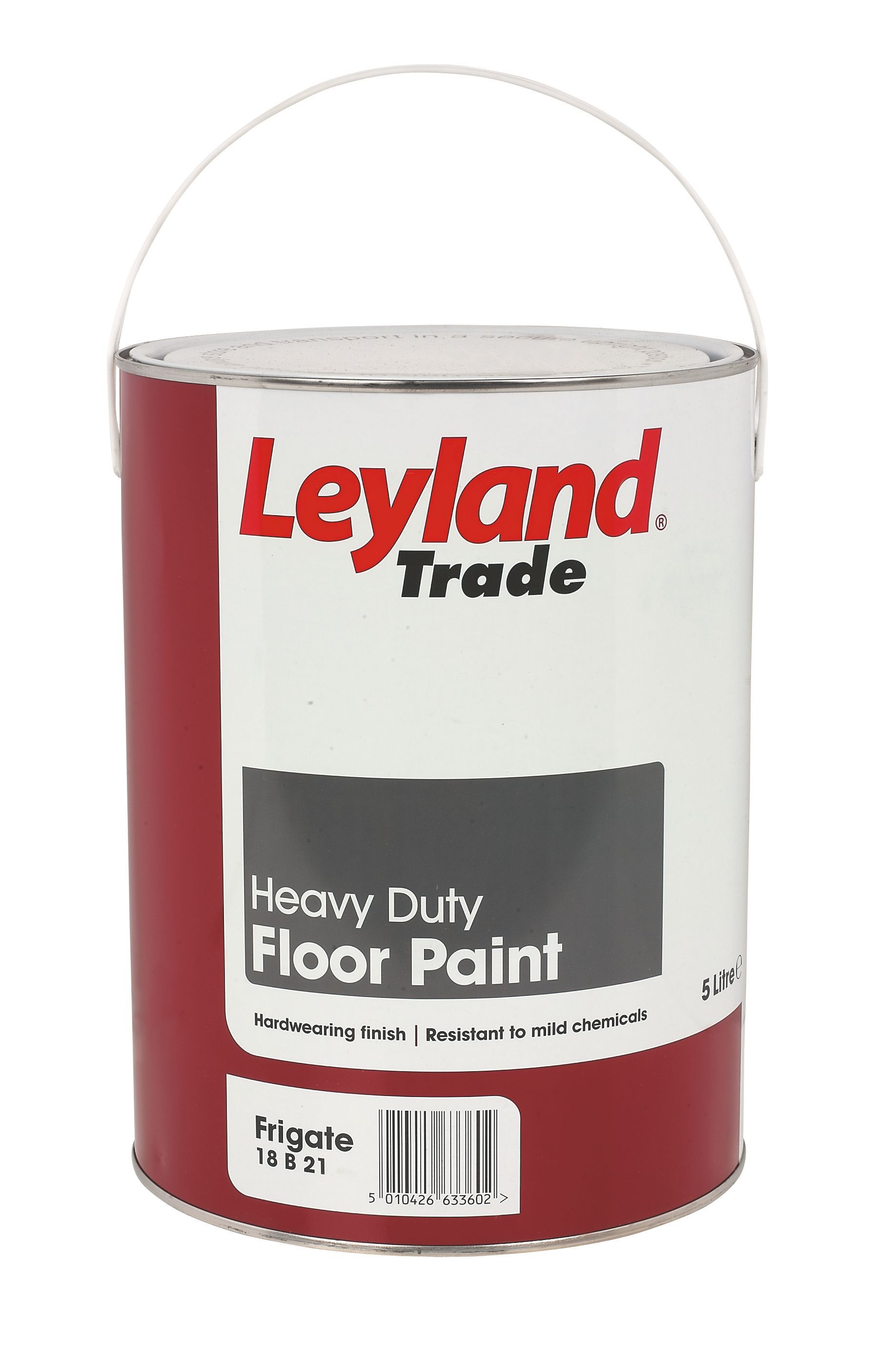 Leyland Trade Heavy Duty Frigate Grey Satin Floor Paint5l